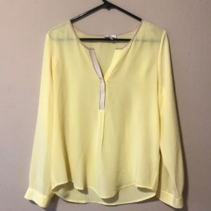 Joie silk blouse in yellow